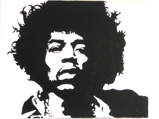 Jimi Hendrix by lynn